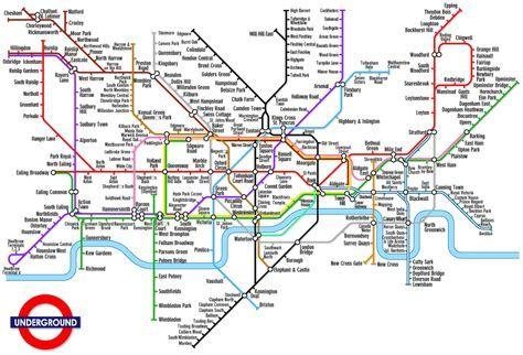 Cartina Londra Tube.Mappa Metropolitana Di Londra Cartina Metropolitana Di Londra