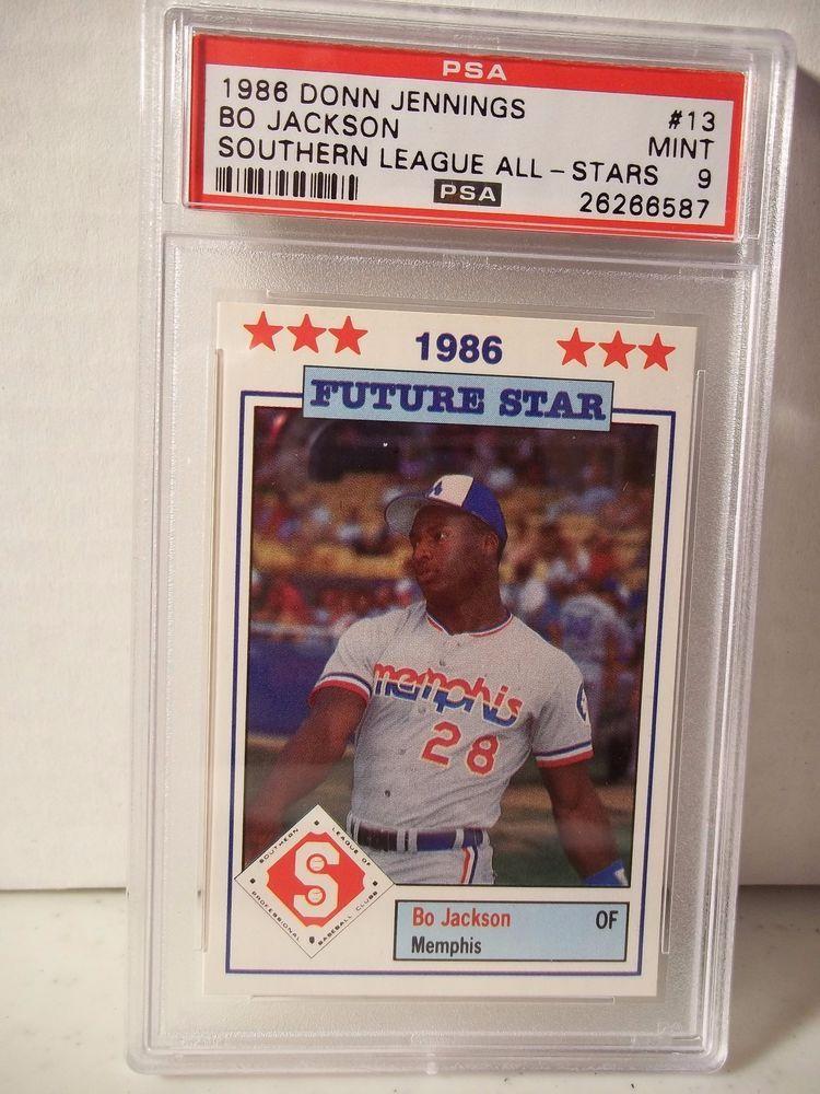 1986 southern league bo jackson rc psa mint 9 baseball