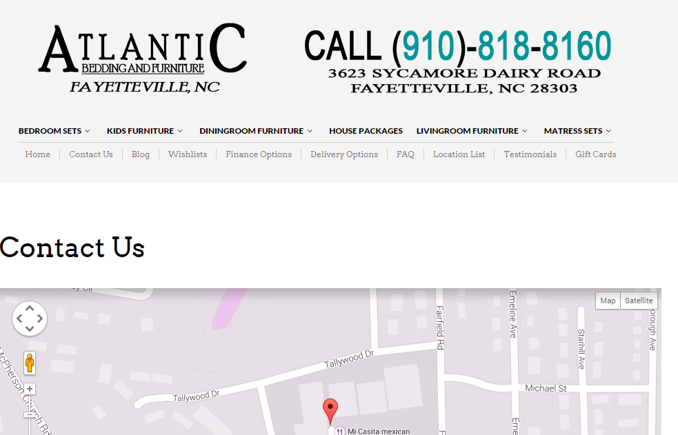 Atlantic Bedding And Furniture Stores In Fayetteville Nc