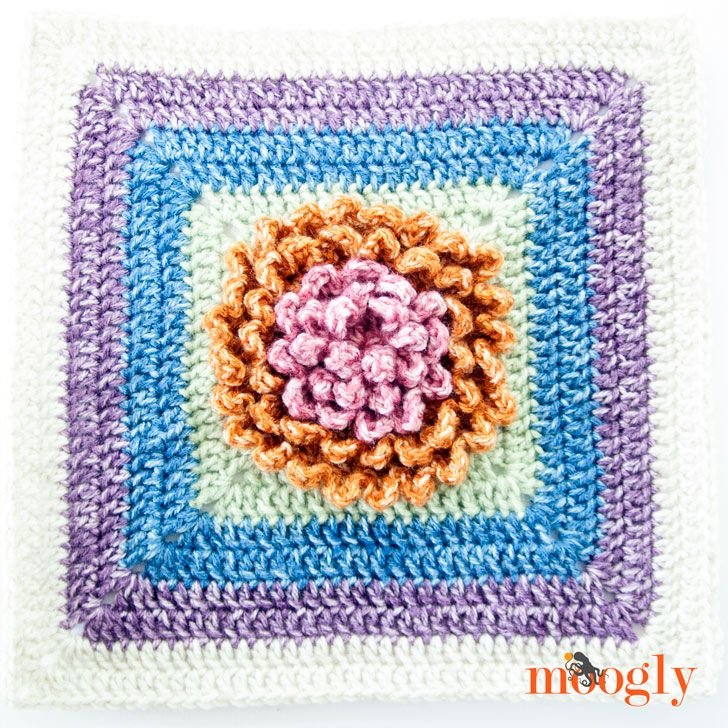 Block #10 in the 2016 Moogly Afghan CAL - free all year!