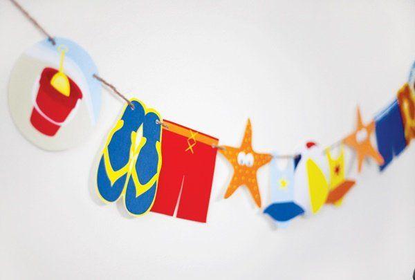guirnalda para una fiesta playera fiestas y cumples - Fiestas Y Cumples