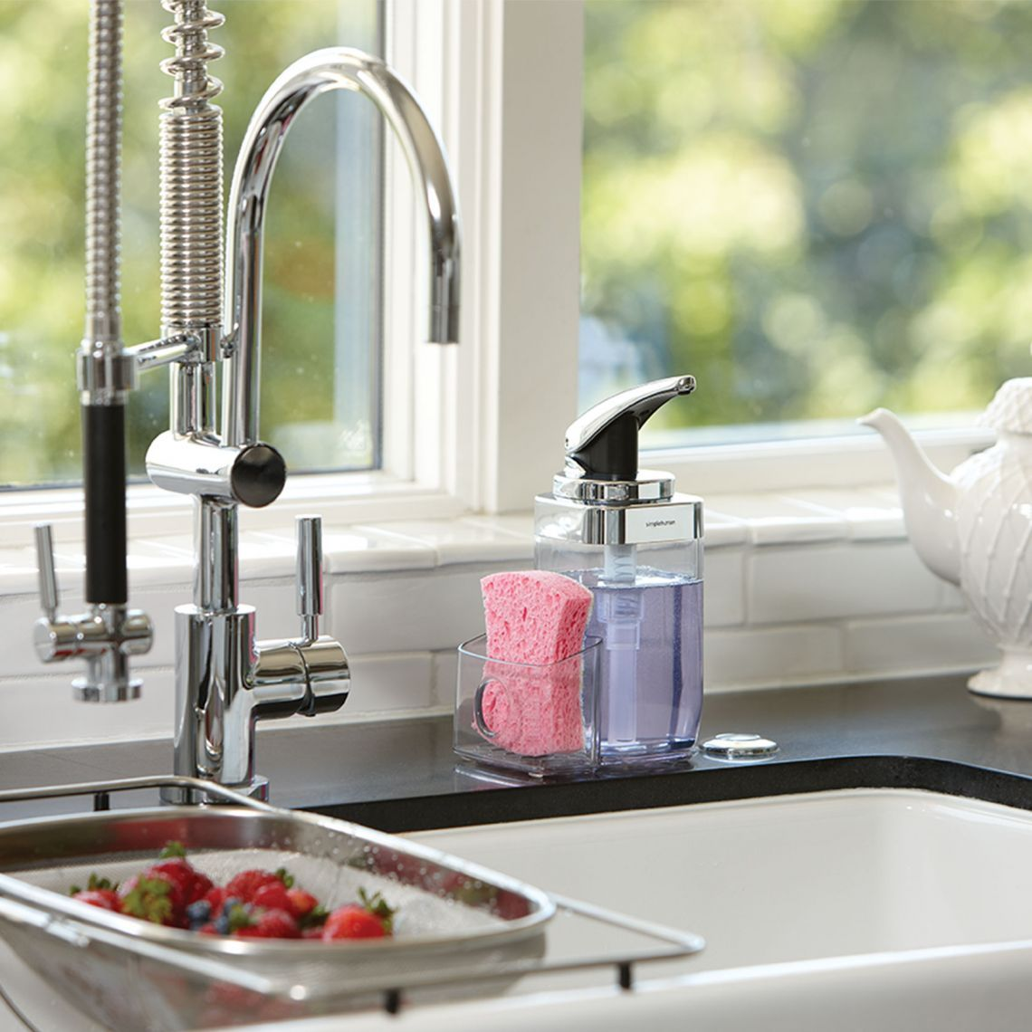 Square Push Pump Kitchen Soap Dispenser Simplehuman Kitchen Soap