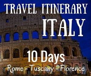 Travel Itinerary Italy Itinerary  Days  Rome Tuscany