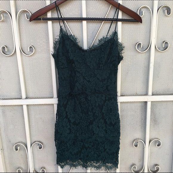 TOPSHOP SZ 0 OR XXS LACE DRESS GREEN New Topshop Dresses