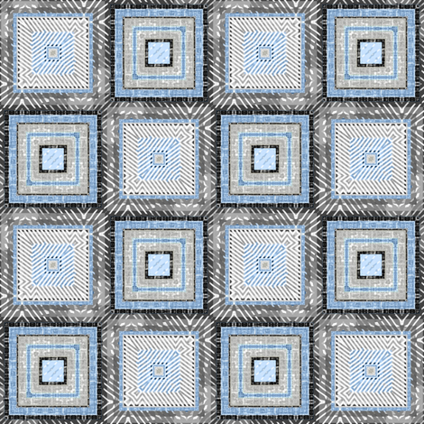 Square Dance Linen Modern Farmhouse Fabric By Joanmclemore On Spoonflower
