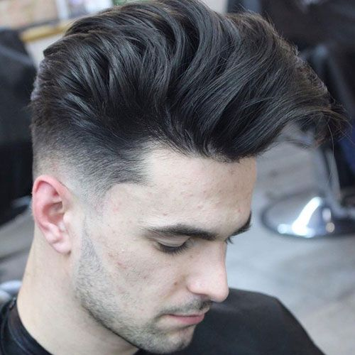 Low Fade With Long Hair On Top Mens Hairstyles Pompadour Mens Haircuts Fade Haircuts For Men