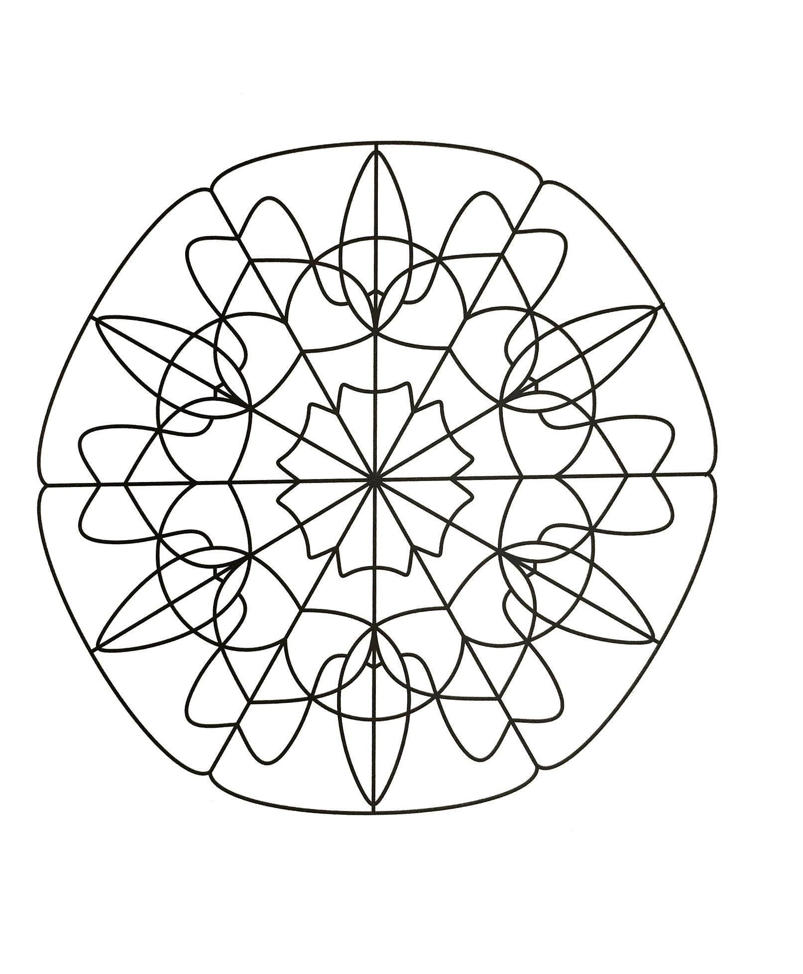 Strange & hypnotic Mandala Mandalas with Geometric