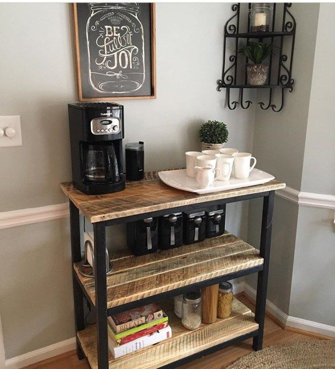 Make Your Own Coffee Bar This Weekend Coffee Bar Home Diy Coffee Bar Bars For Home