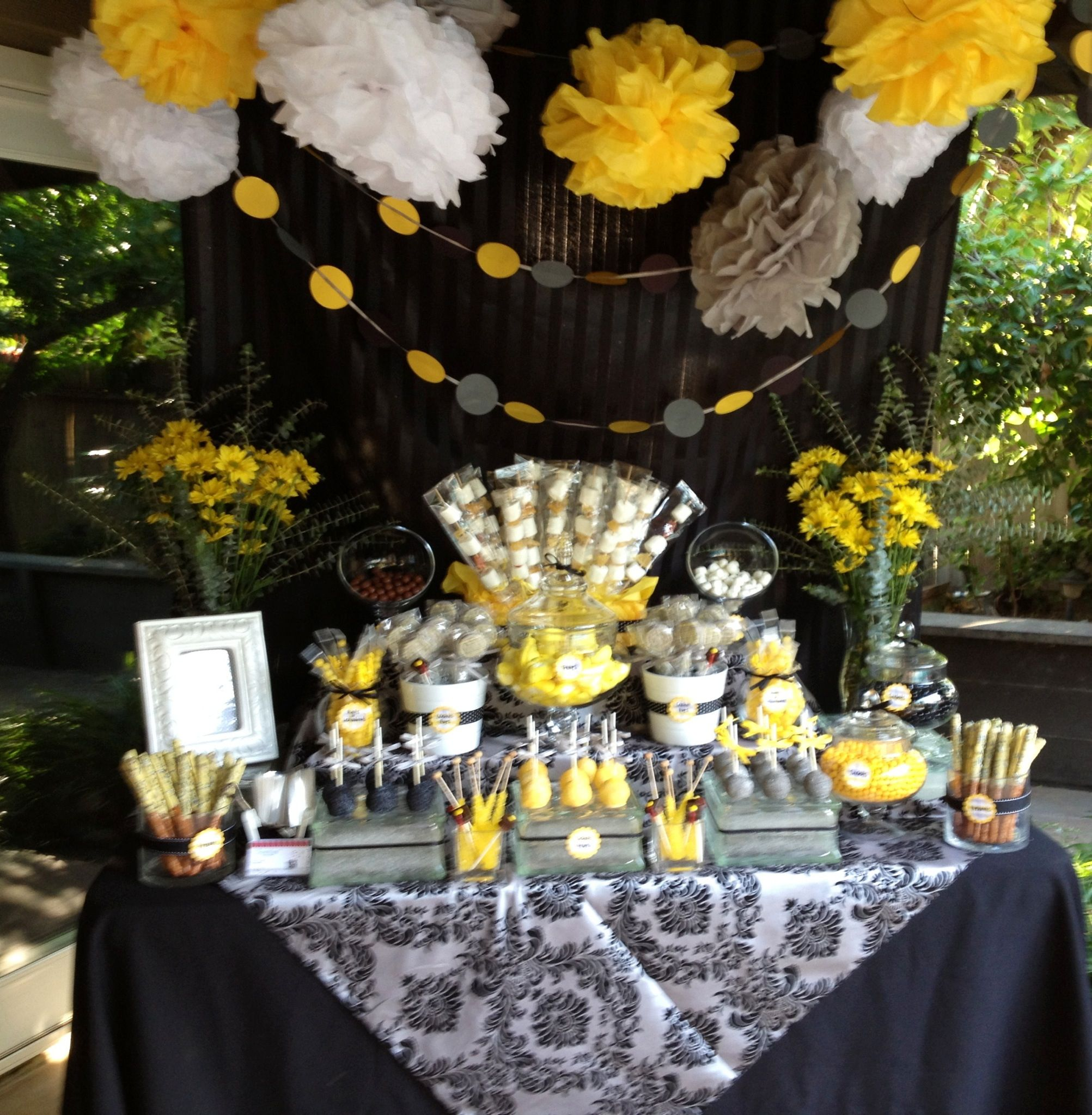Black Yellow And Gray Graduation Sweet Shoppe Graduation Party