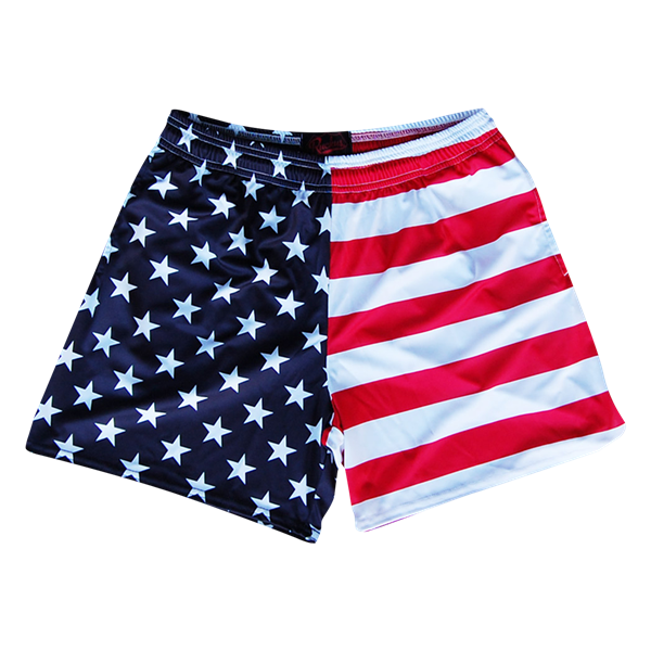 American Flag Tie Dye Rugby Shorts