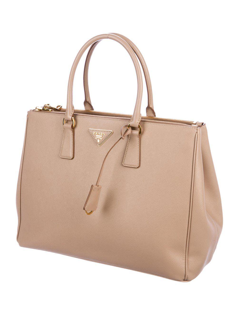 296b31179aaf24 Prada 2017 Medium Saffiano Lux Galleria Double Zip Tote - Handbags -  PRA265936 | The RealReal