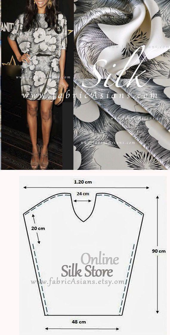 How to sew Tunic dress. Easy tunic dress sewing pattern. | Шитье ...