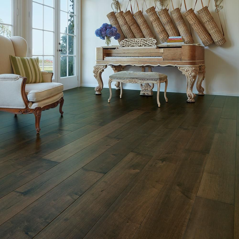 Malibu Wide Plank Maple Hermosa 3 8 in  Thick x 6 1 2 in  Wide x     Malibu Wide Plank Maple Hermosa 3 8 in  Thick x 6 1 2 in  Wide x Varying  Length Engineered Click Hardwood Flooring  23 64 sq  ft    case