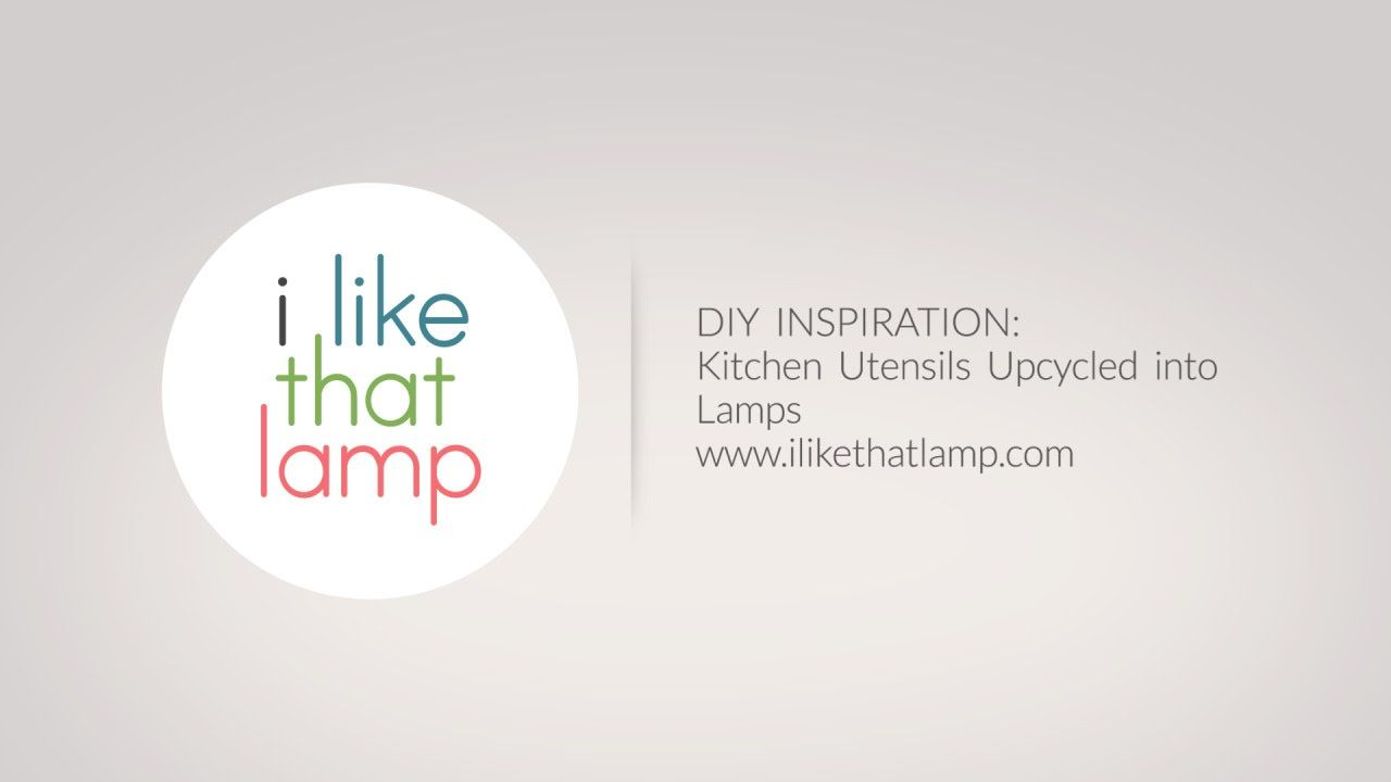 I Like That Lamp: Kitchen Utensils as DIY Lamps. The great thing about a kitchen light makeover project is that you can keep your budget down by recycling items from your own drawers. From grater pendant lamps to meat grinder table lamps, there's something cool for every lamp lover out there in today's inspirational post where we look at kitchen utensils to upcycle into a DIY lamp.