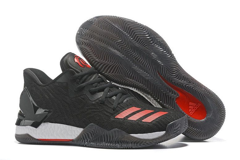 on sale 4c1c6 1e99c Adidas D Rose 7 VII Low BHM Bred Black Gym Red
