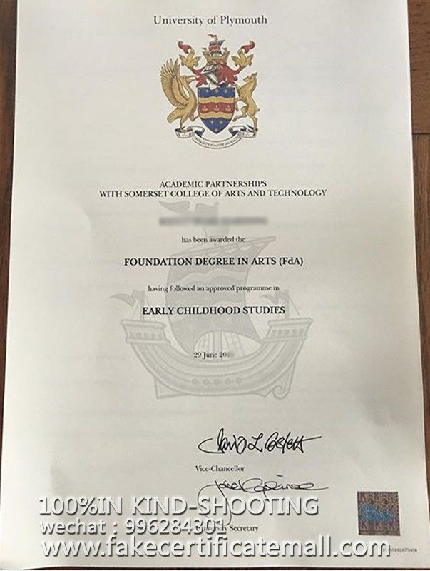 How to get a Plymouth University degree certificate?-Fake Diplomas