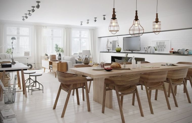 idea-per-arredare-cucina-soggiorno-open-space-tavolo-rettangolare ...