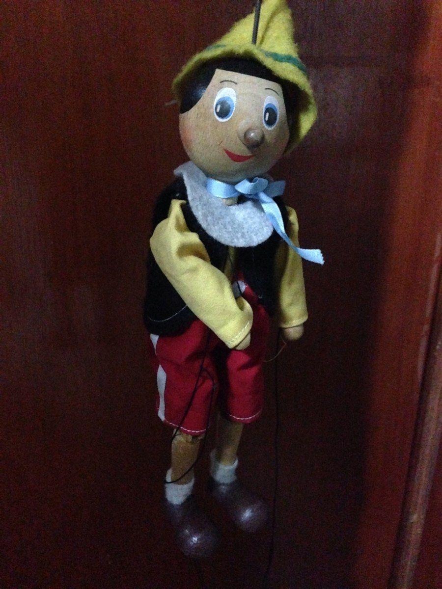 Marionete Pinoquio Antigo De Madeira Raridade - R$ 290,00 no MercadoLivre