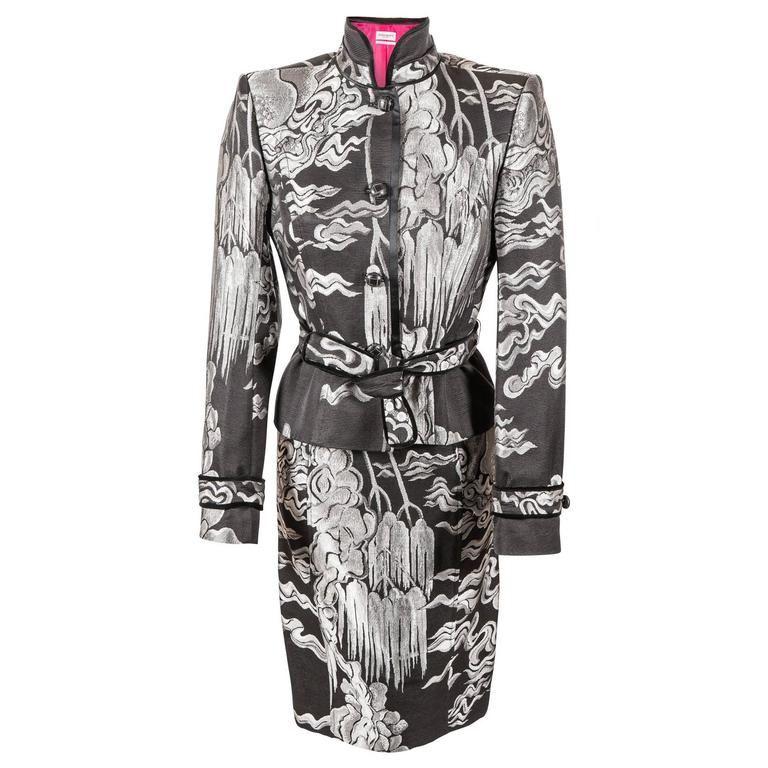 40e28455c37 Tom Ford for Yves Saint Laurent Fall 2004 Chinoiserie Suit Jacket & Skirt 1