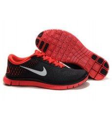 7e3f8593165d4 Soldes Nike Free 4.0 V2 Femme Noir Rouge Paris-20