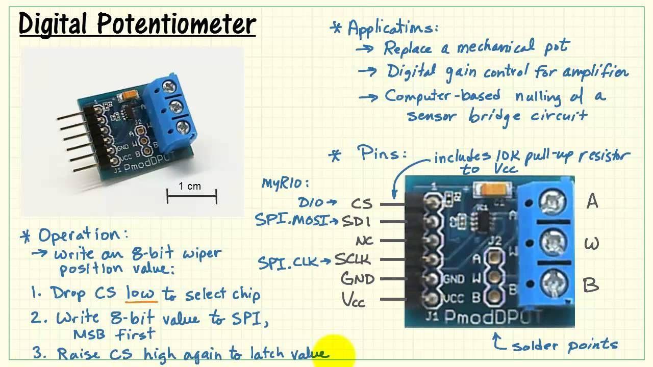 NI myRIO Digital potentiometer Arduino Parts and