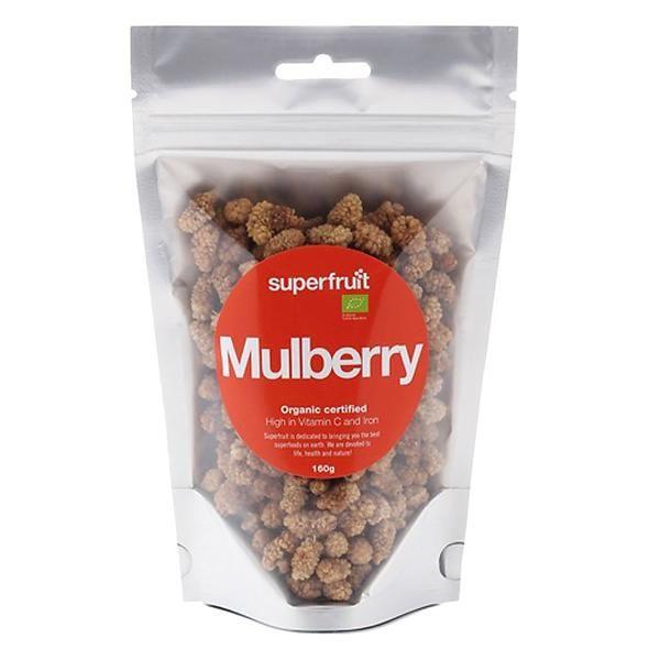 Superfruit Mulberry Organic 160g Supermat Halsosamt Matlagning Muesli