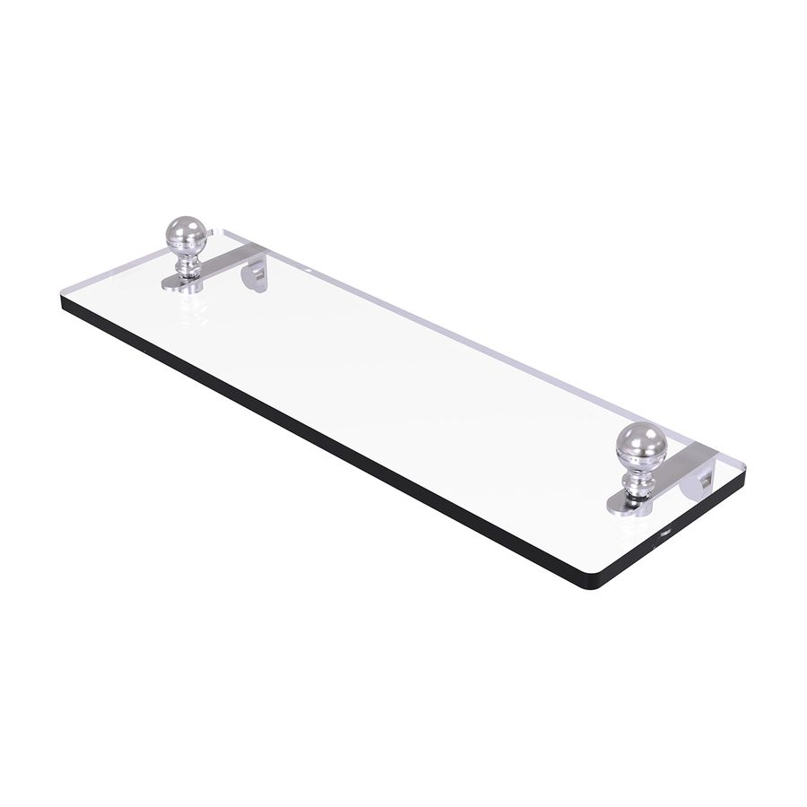 Allied Brass Mambo 1-Tier Satin Chrome Brass Bathroom Shelf Ma-1/16 ...