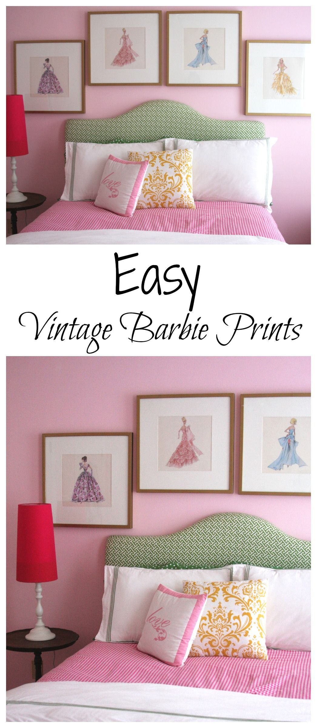 Create These Easy Vintage Barbie Prints Using A Calendar