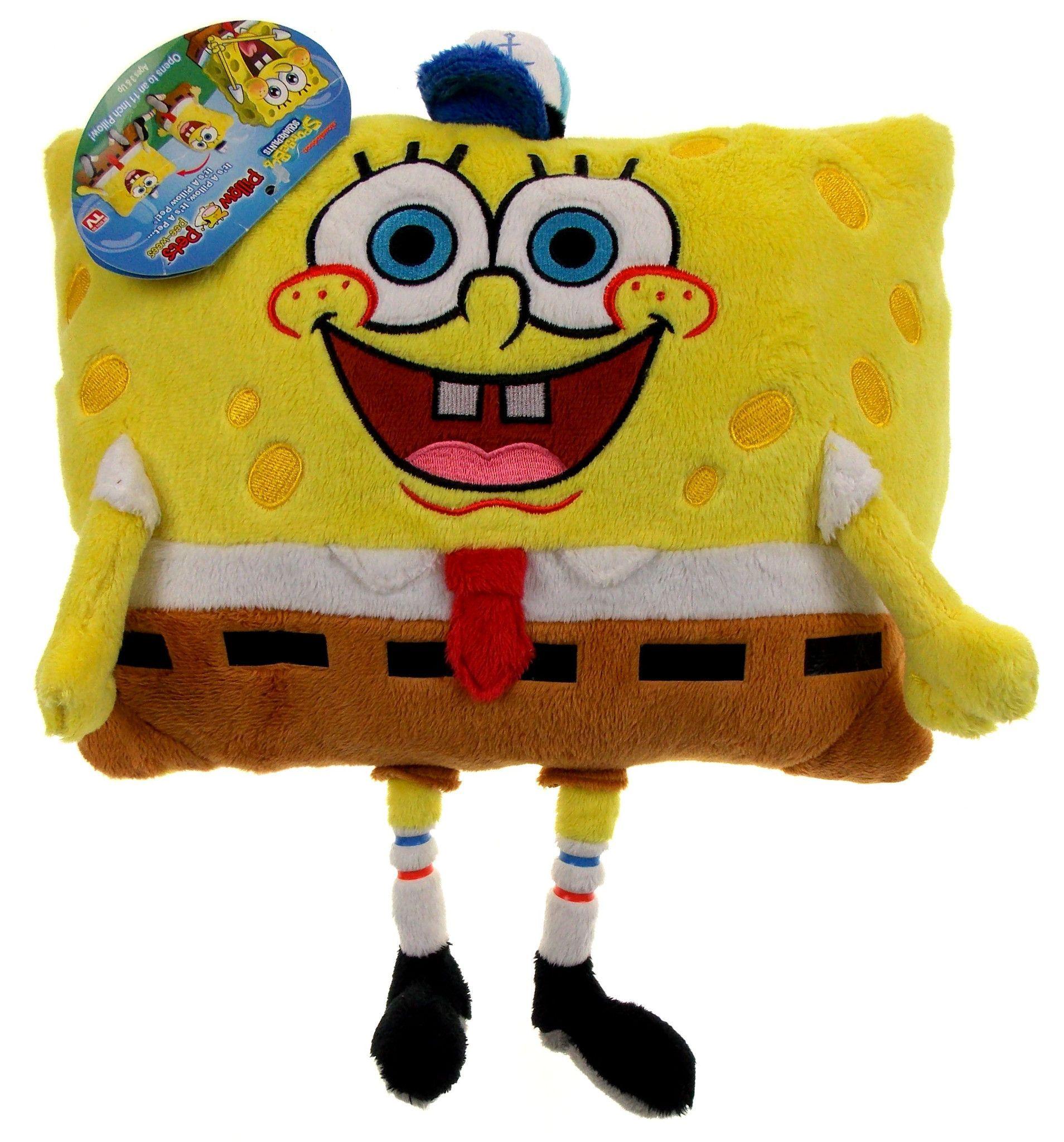 Pillow Pets 11 Pee Wees Spongebob Squarepants Plush Stuffed Animal Nickelodeon Animal Pillows Spongebob Cute Stuffed Animals