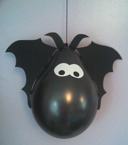 Murci lago de globos para halloween ideas for new - Adornos de halloween ...