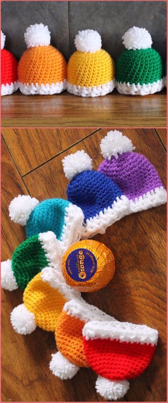 Crochet Winter Hats Choc Orange Cover Free Pattern Crochet