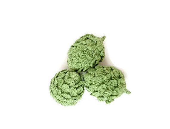Häkeln Sie Artischocke häkeln Gemüse Amigurumi spielen Essen ...