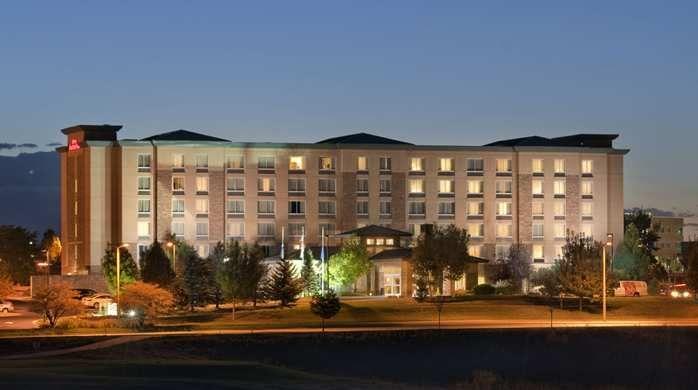 Hilton Garden Inn Denver South Meridian Hotel Englewood Co Dusk Exterior