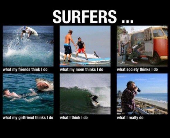 Surfers ...