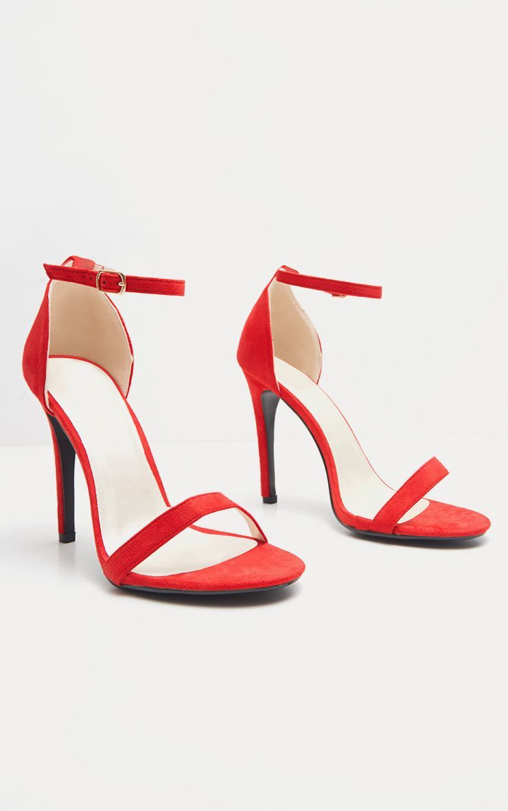 e5aee7c44f60 Clover Red Strap Heeled Sandals in 2019