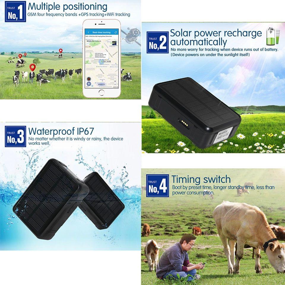 Dewpho Gps Tracker With Solar Power V34 9000mah Gps Tracker Gps Tracking Gps