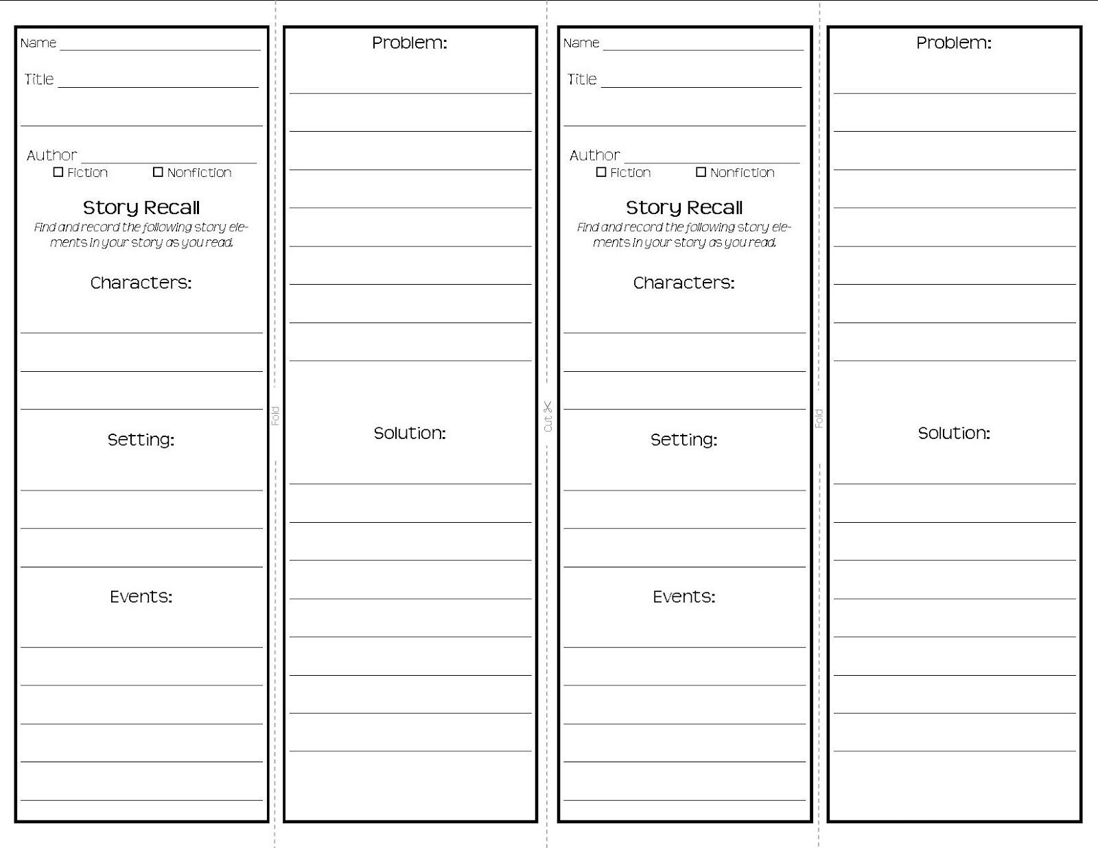 Bookmark Template to Print | Activity Shelter | Printable Bookmarks ...