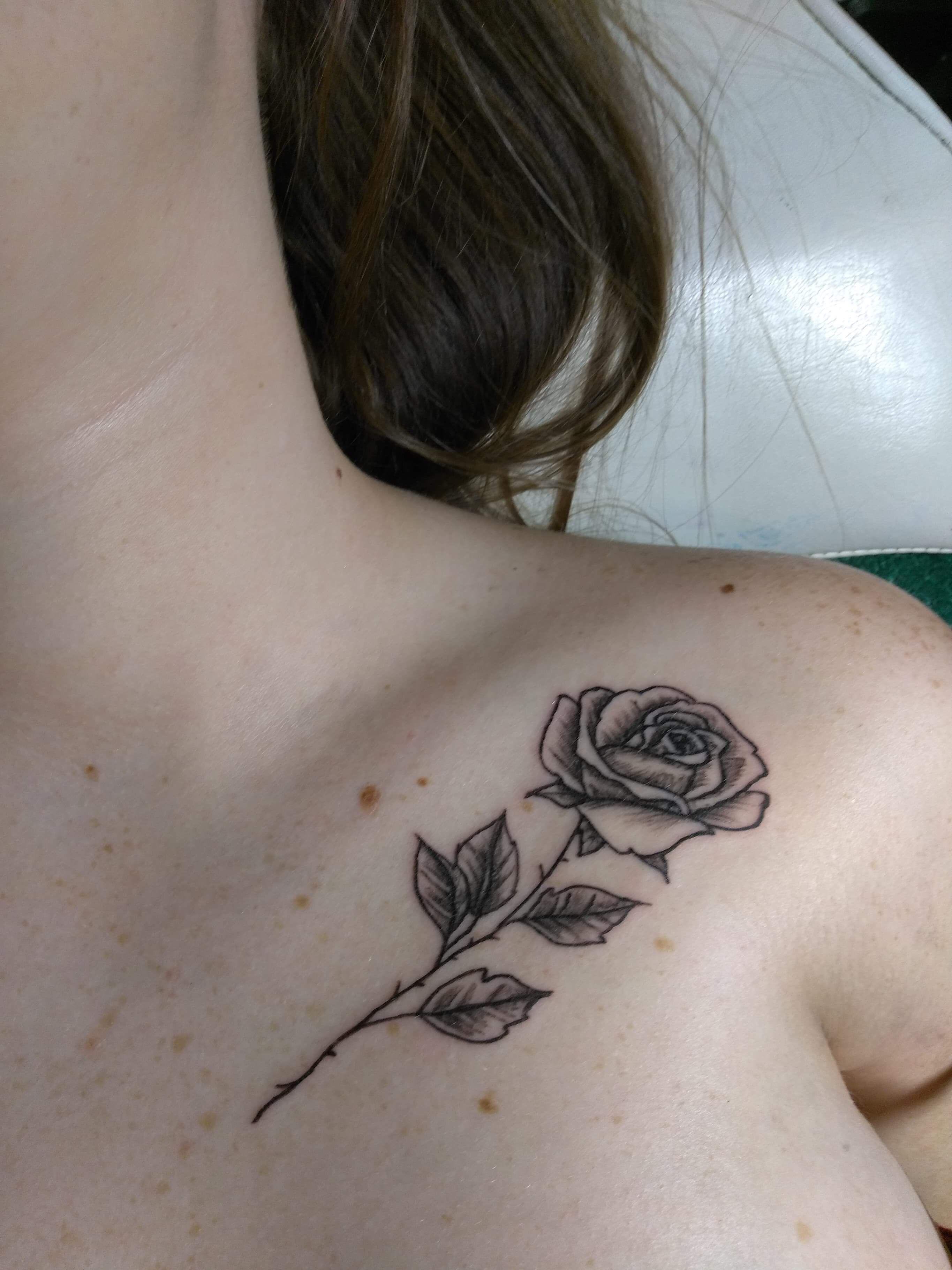 Rose Tattoo Collarbone Small Rose Tattoo Rose Neck Tattoo Collar Bone Tattoo
