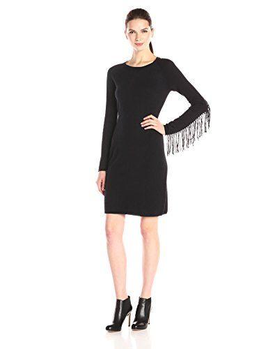 f26aa380fd3e Yoana Baraschi Womens Raven Fringe Dress Black Large     Read more ...