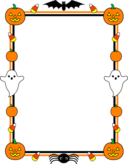 halloween clip art cute halloween border frame free clip art rh pinterest com halloween clip art border for a word document printable halloween clipart borders