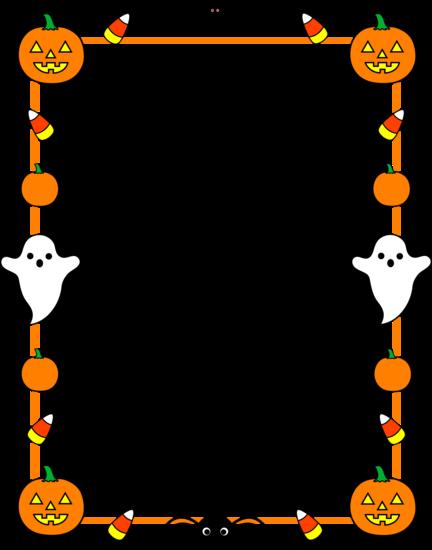 halloween border clip art