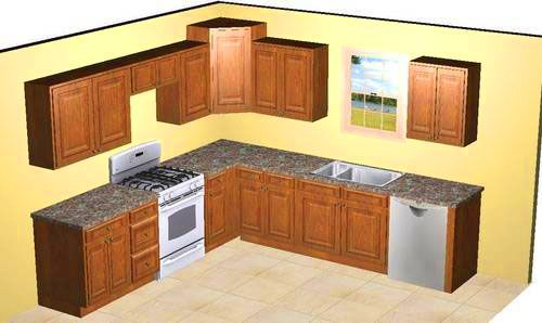 Small Kitchen Design Layout 10x10