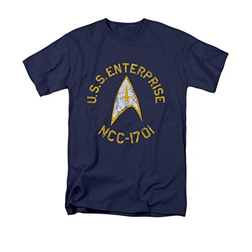 Star Trek The Original Sci-Fi TV Series Retro U.S.S Enterprise Adult T-Shirt http://amzn.to/1Feny58
