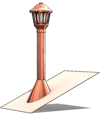 Ornate Copper Roof Jack In 2020 Copper Roof Roof Pitched Roof
