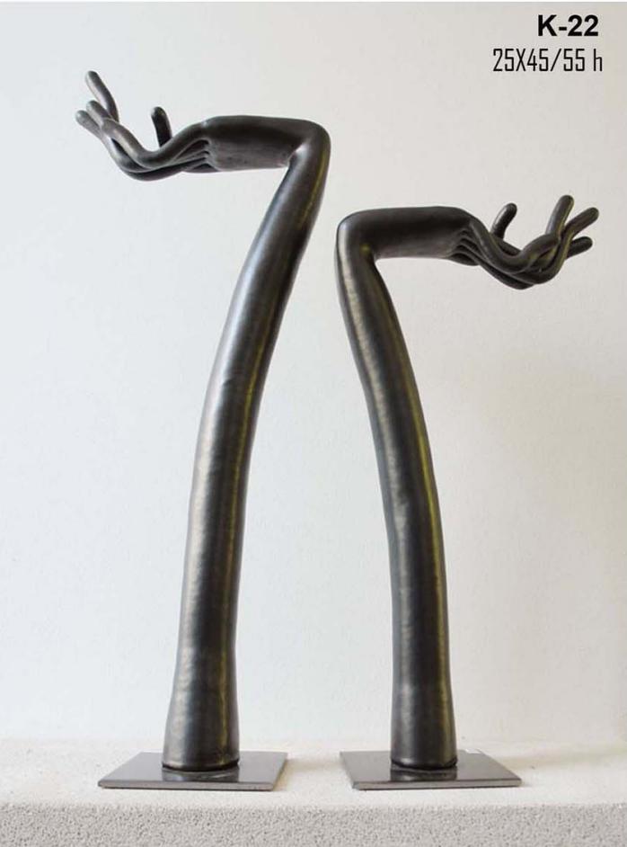 Superbe Ceramic Hand Sculpture Contemporary Black Hands Ceramic Sculpture Table Art  Home Decor Accessories Interior Design Table Art Handmade In Greece