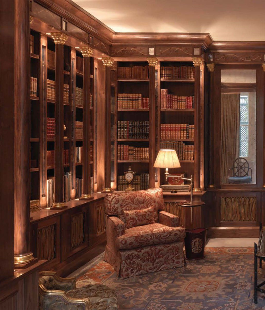 Mahogany Home Library Office: Tim Gosling Fitted Library In Sycamore