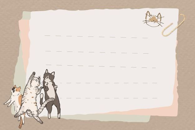 Download Cat Lover Pattern Lined Note Paper Design for free