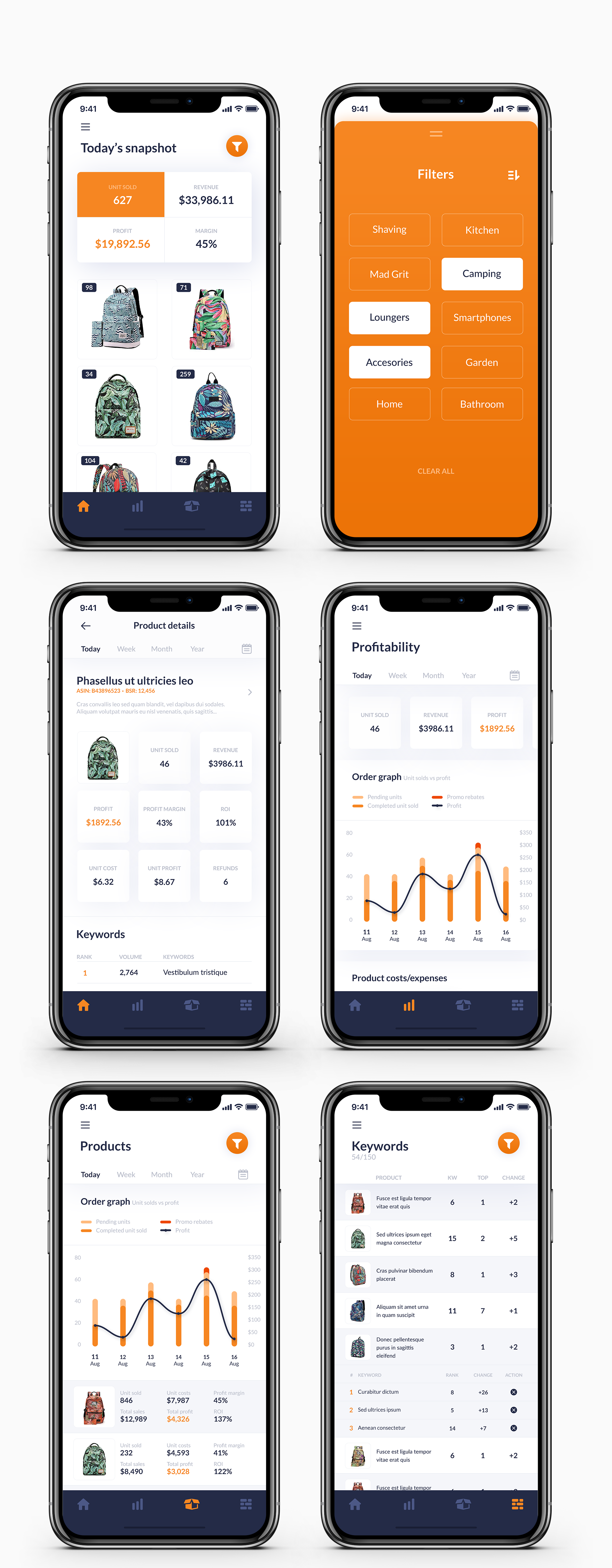 designs | redesign app for amazon sellers on the go | app