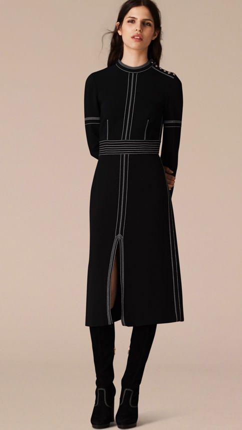 Outfit vestido negro recto