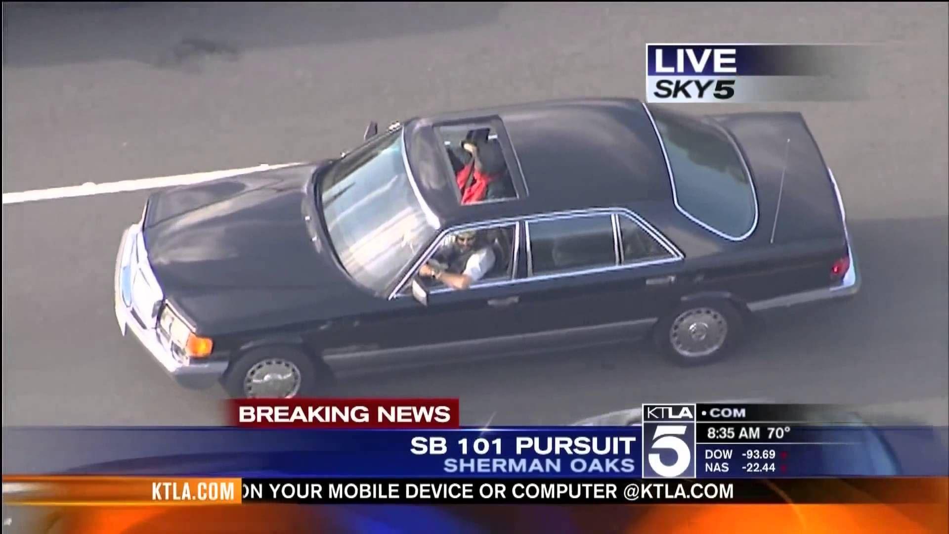Southern California High Speed Police Pursuit Mercedes Benz Over 120 Mph Ktla Mercedes Benz Benz Mercedes